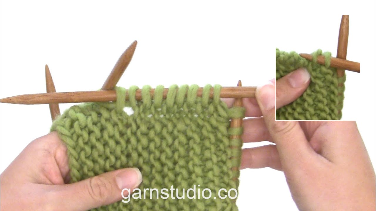 How To Pick Up Stitches From A Garter Stitch Edge Youtube
