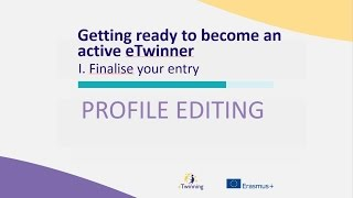 Getting ready to become an active eTwinner - Finalise your entry