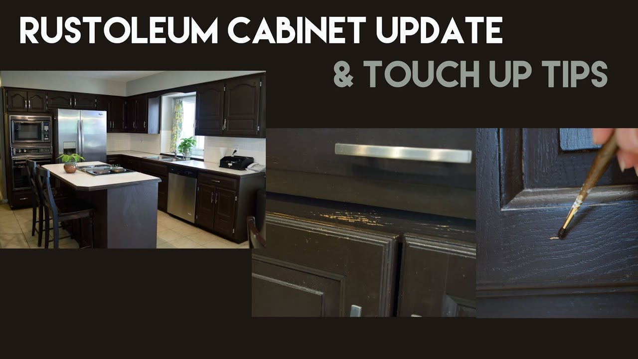 Rustoleum Kitchen Cabinet Update & Touch Up Tips - YouTube