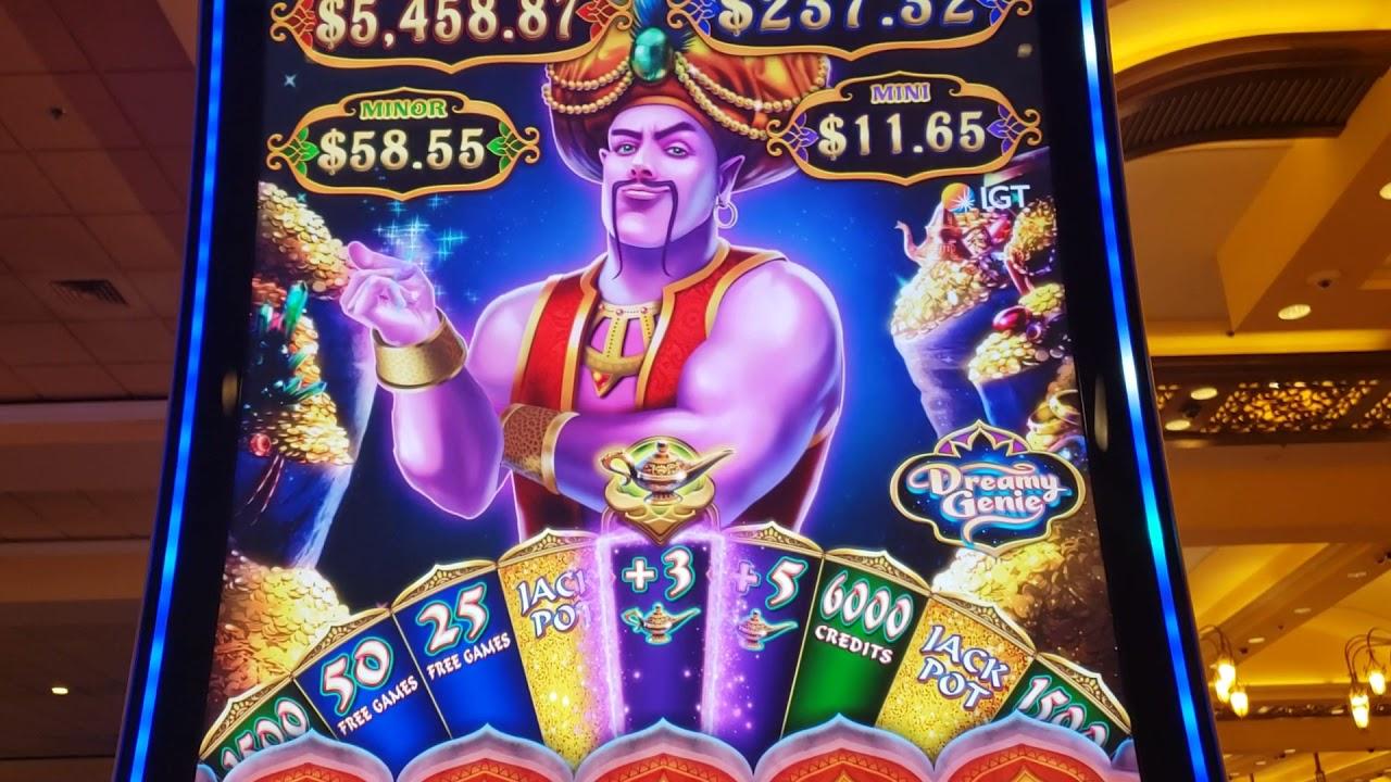 I LOVE THIS GENIE LESS!! * BUT IT ALMOST GOT EXCITING!!! - Las Vegas Casino Slot Machine Bonus Stuff