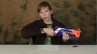 Nerf Elite Roughcut 2x4 Review and Shooting