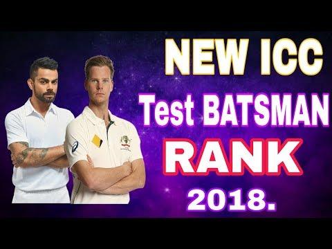 New ICC TEST BATSMAN RANKINGS 2018 ( LATEST )