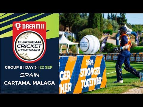 🔴 Dream11 European Cricket Championship | Group B Day 3 Cartama Oval Spain | T10 Live Cricket