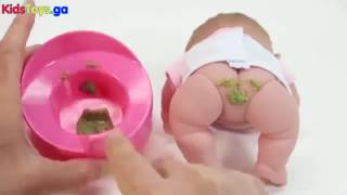 Toys R-US - Baby Doll Eating Food Baby Doll Potty Training How To Sleep Baby Dolls Videos - Baby
