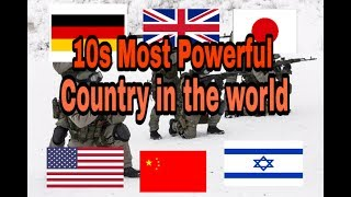 Top 10s Most Powerful country | In the World | In 2018 | By Secret Top 10s