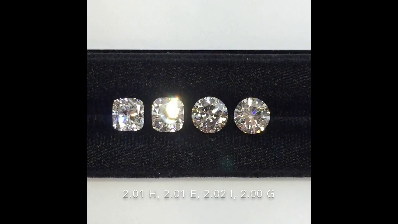 Loose 2 Carat Cushion Brilliant Vs Round Brilliant Cut Diamonds