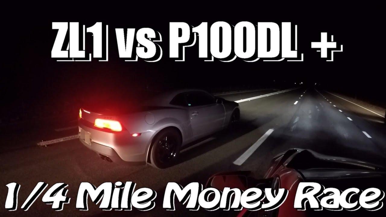 Tesla P100d Ludicrous Plus Vs Zl1 Camaro Money Race 2016