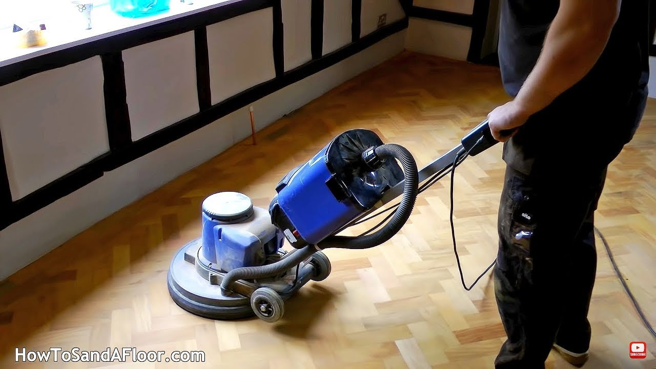 Sanding And Refinishing Parquet Floors Whole Process