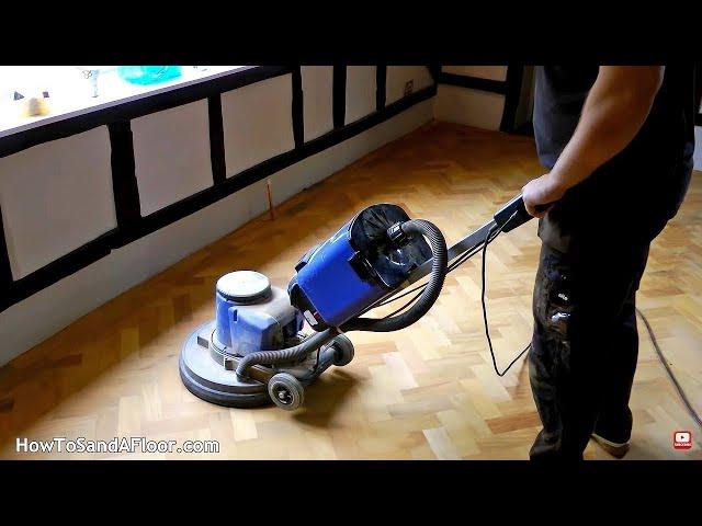 Sanding A Parquet Floor Step By Step