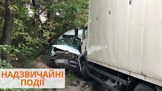 Фото ДТП в Днепре: грузовик въехал в микроавтобус