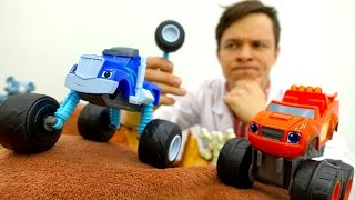Видео для детей: Машинки #ВСПЫШ, Крушила и #ДокторОЙ. Играем в доктора #Больничка