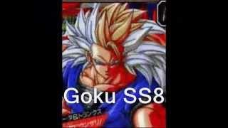 Dragon Ball Z, GT e AF - Transformações de Goku SS a SS8 e Fusões