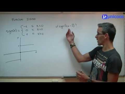 Funcion signo 01 SECUNDARIA (4ºESO) matematicas inecuaciones sgn(x)