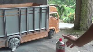 Belajar nge cat miniatur truk tanpa Dempul