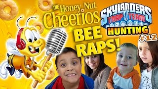 Honey Nut Cheerios Bee RAPS about Skystones Cereal Game Surprise! (Skylanders Trap Team Hunting #12)