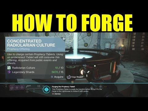 Destiny 2 How To Forge Weapons And Complete Prophecy (FARM Concentrated Radiolarian Culture)