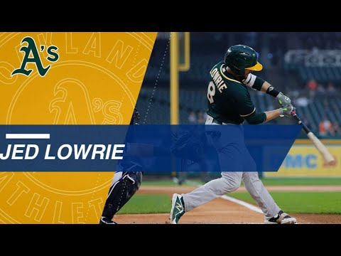 Watch Jed Lowrie's doubles from the 2017 season