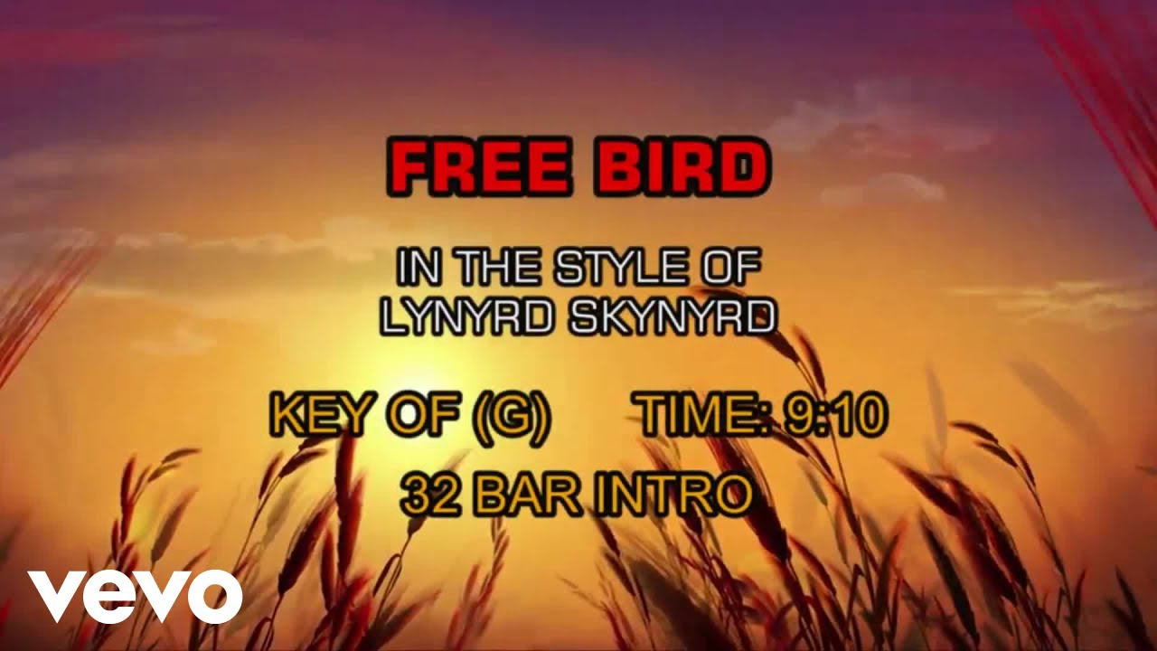 lynyrd skynyrd free bird karaoke youtube. Black Bedroom Furniture Sets. Home Design Ideas