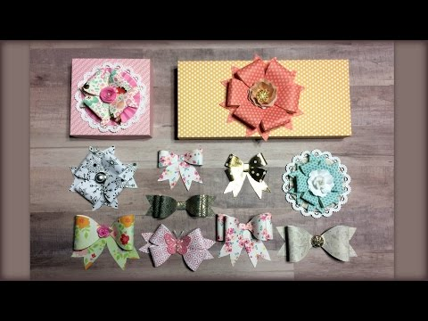 Paper Bows Tutorial (no dies needed)