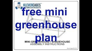 Free mini greenhouse PVC plan