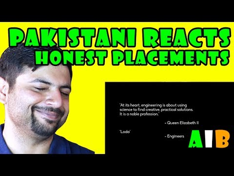 Pakistani Reacts to AIB Honest Engineering Campus Placements