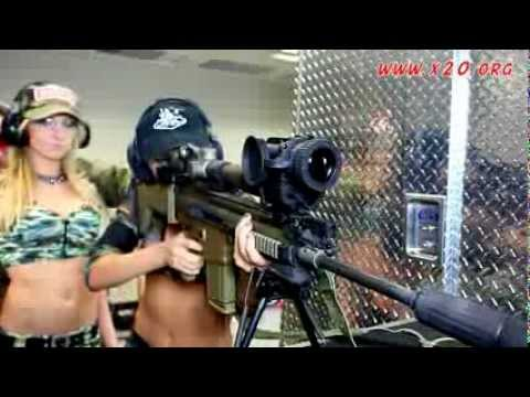 Girls Shooting T65 Thermal Scope FLIR on Full Auto SAW M249 Machine Gun and SCAR HEAVY .308