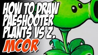 How to Draw Peashooter Step by Step - Plants vs Zombies