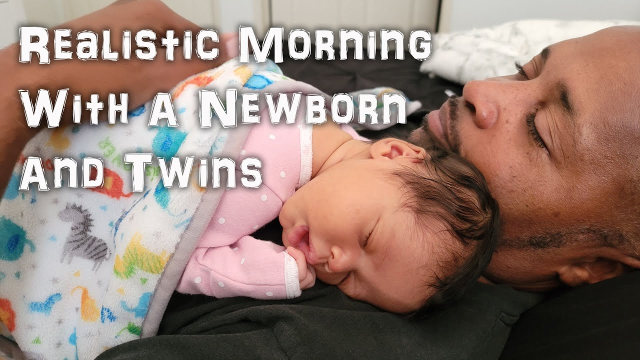 Realistic Morning With A Newborn Baby And Twins | VLOG