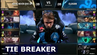 RNG vs C9 - Tie Breaker | Day 5 Group Stage S8 LoL Worlds 2018 | Royal Never Give Up vs Cloud 9