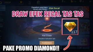 CARA MENDAPATKAN EFEK RECAL TAS-TAS SECARA GRATIS!! - MENGGUNAKAN PROMO DIAMOND