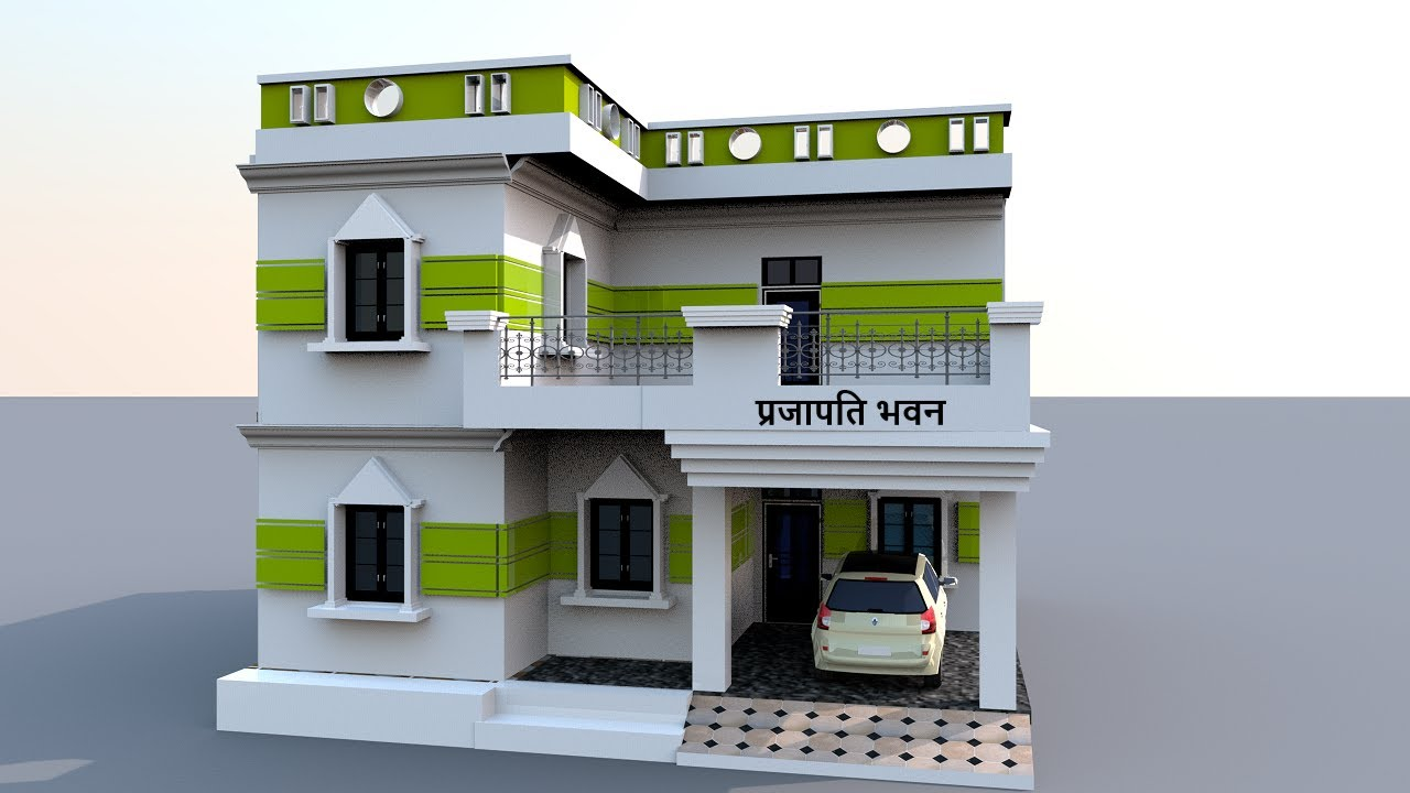 30 x 36 Home Design with car parking !! 30 x 36 House Plan With Front Elevation