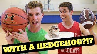 Basketball trick shot challenge - jugglin' josh vs. just jake