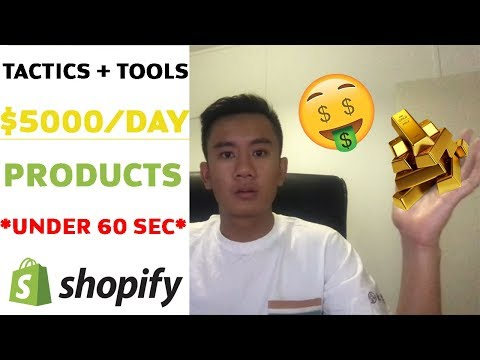 🤩 Shopify Product Research INSANE Tactics + Tool To Find $5000/Day Products in 60 Seconds! 🤩 thumbnail