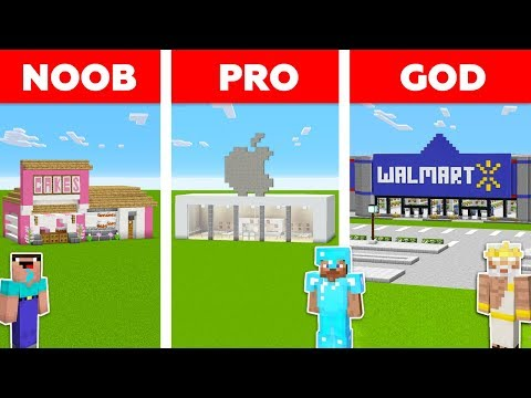 Minecraft Battle: NOOB vs PRO vs GOD: SHOP in MINECRAFT / An