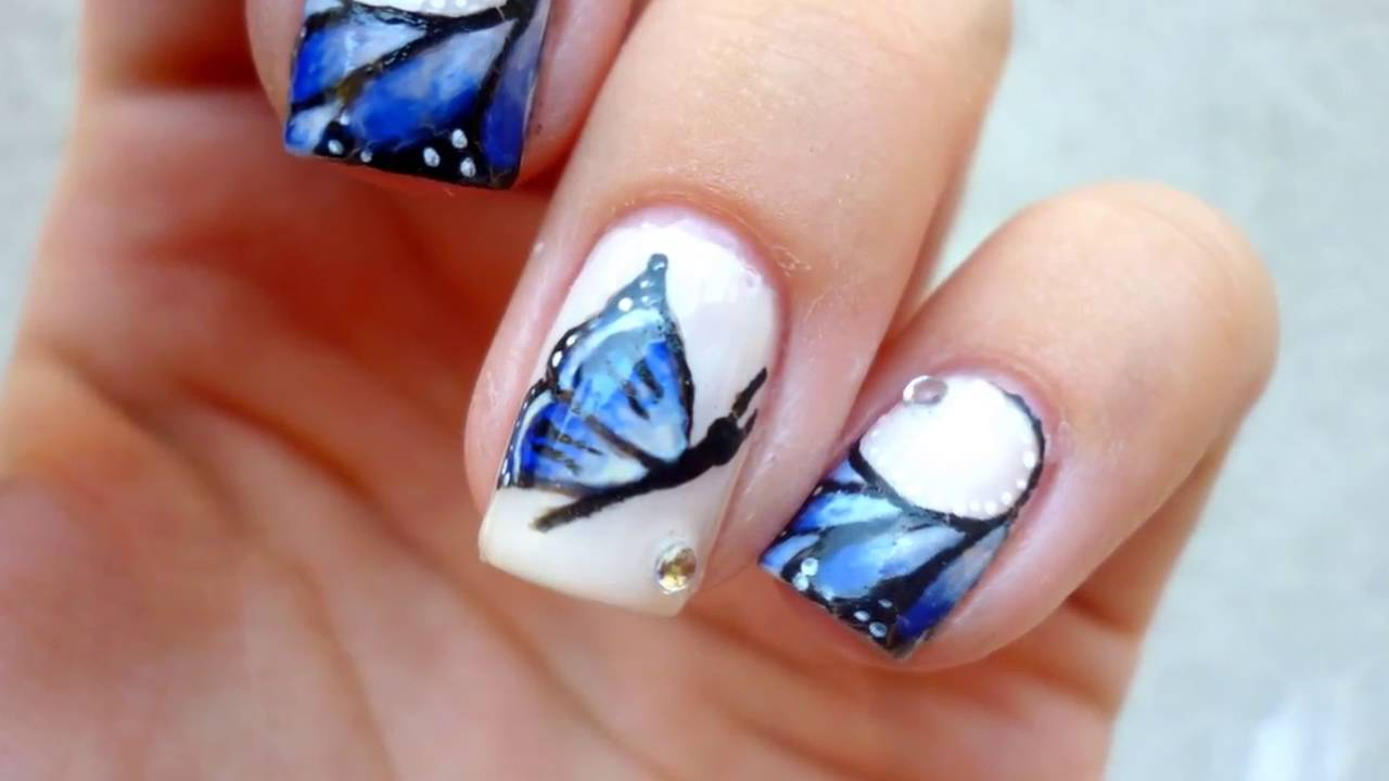 Butterfly Cute Nail Designs Nail Decals Nails Art Youtube