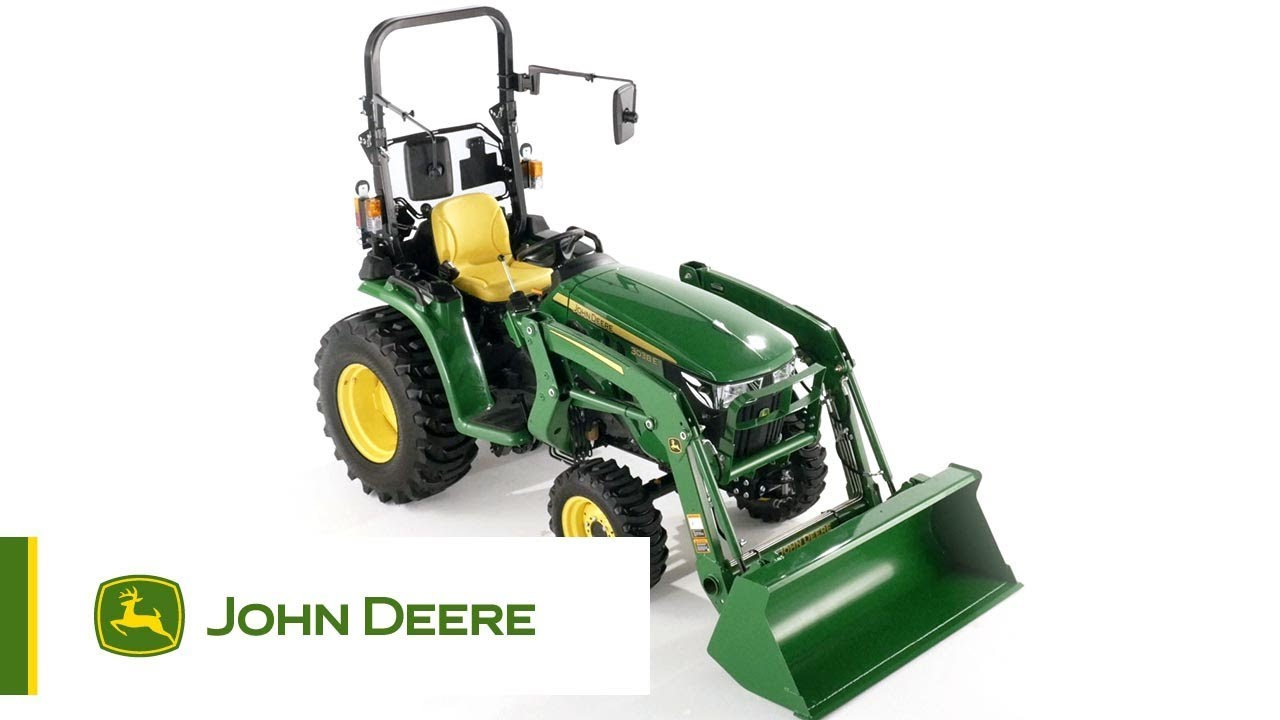 compact tracteur 3038e john deere youtube. Black Bedroom Furniture Sets. Home Design Ideas