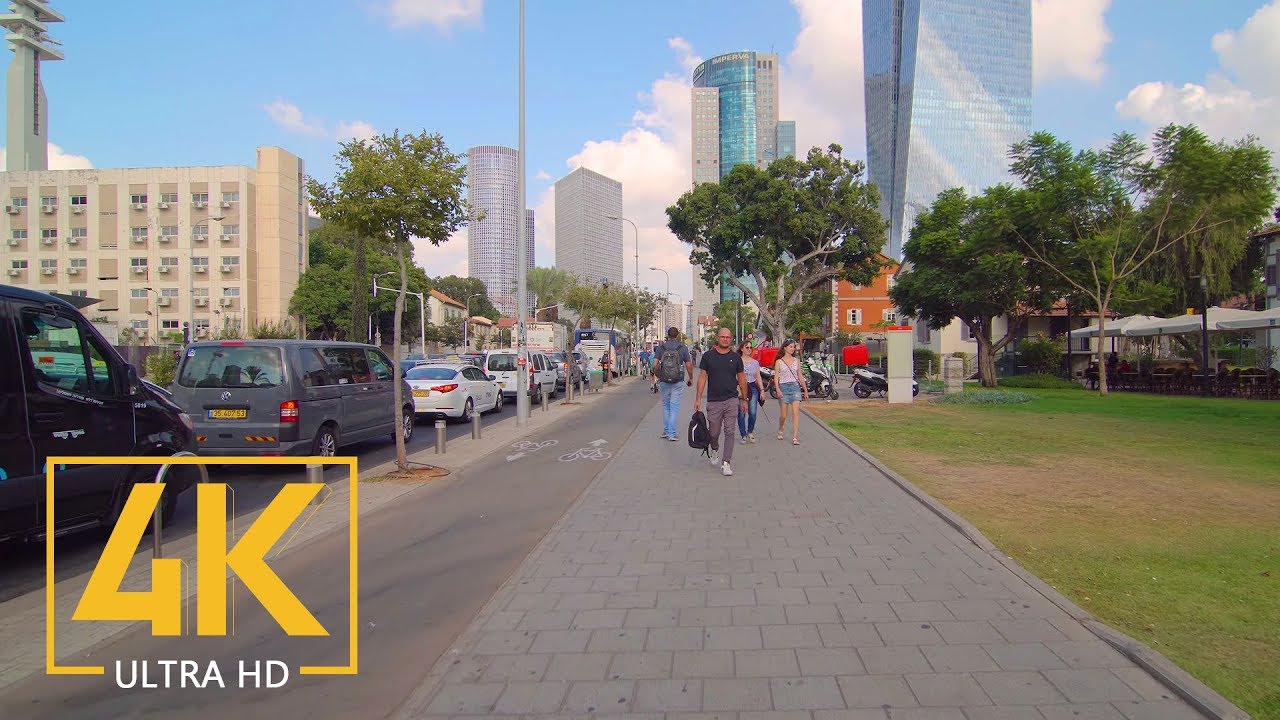 Download City Walk through Tel Aviv-Yafo, Israel - 4K Walking Tour with City Sounds