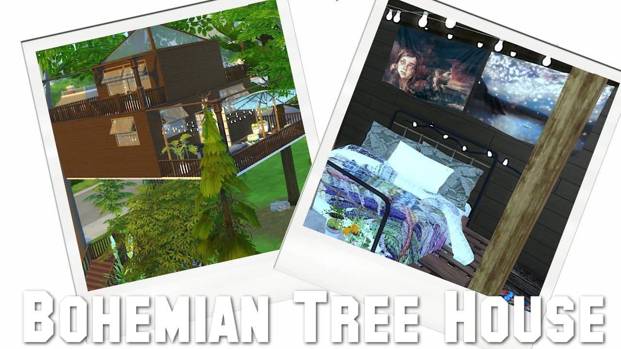 Urban treehouse sims 4 houses - The Sims 4 Speedbuild Bohemian Tree House Full Cc List Download
