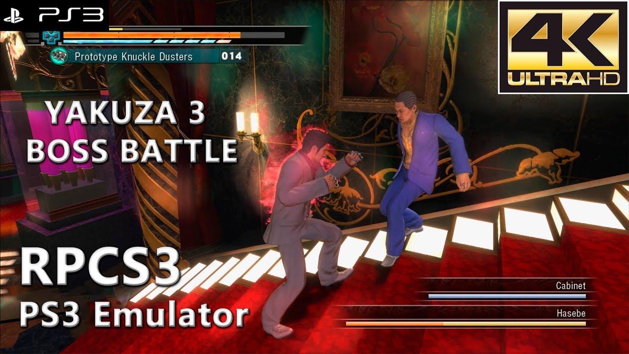 RPCS3 0 0 5-7234   Yakuza 3 (4K Gameplay / Boss Battle)