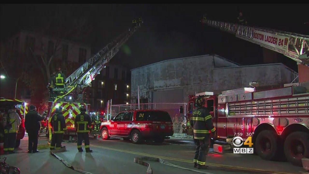 4 Alarm Fire Rips Through East Boston Warehouse