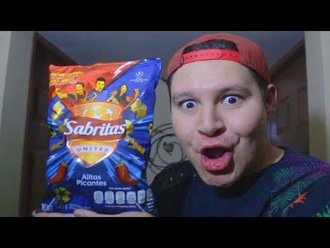 Probando SABRITAS sabor ALITAS PICANTES - Super Niño Rata