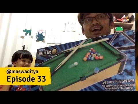 Unboxing Mainan Billiard untuk Anak Kecil