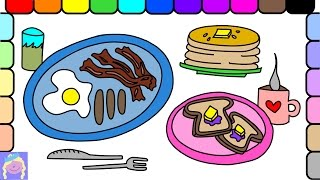 breakfast drawing draw easy yummy learn coloring getdrawings