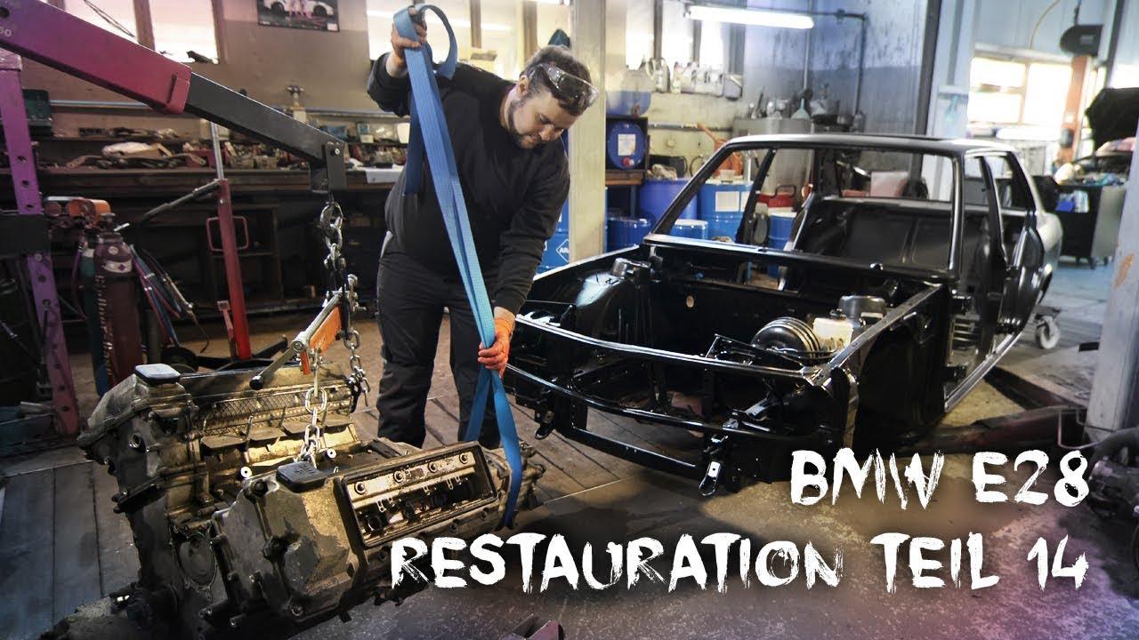 Bmw E28 Restauration Teil 14v8 Einbaubodenfreiheitanlasser