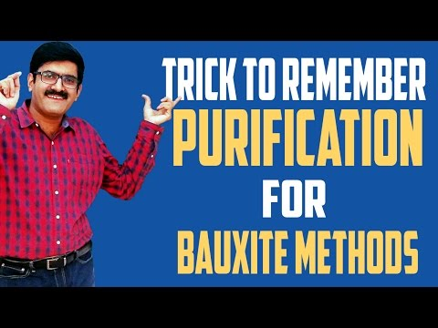 Trick to remember purification of Bauxite Methods-JEE Main| Advance| AIIMS