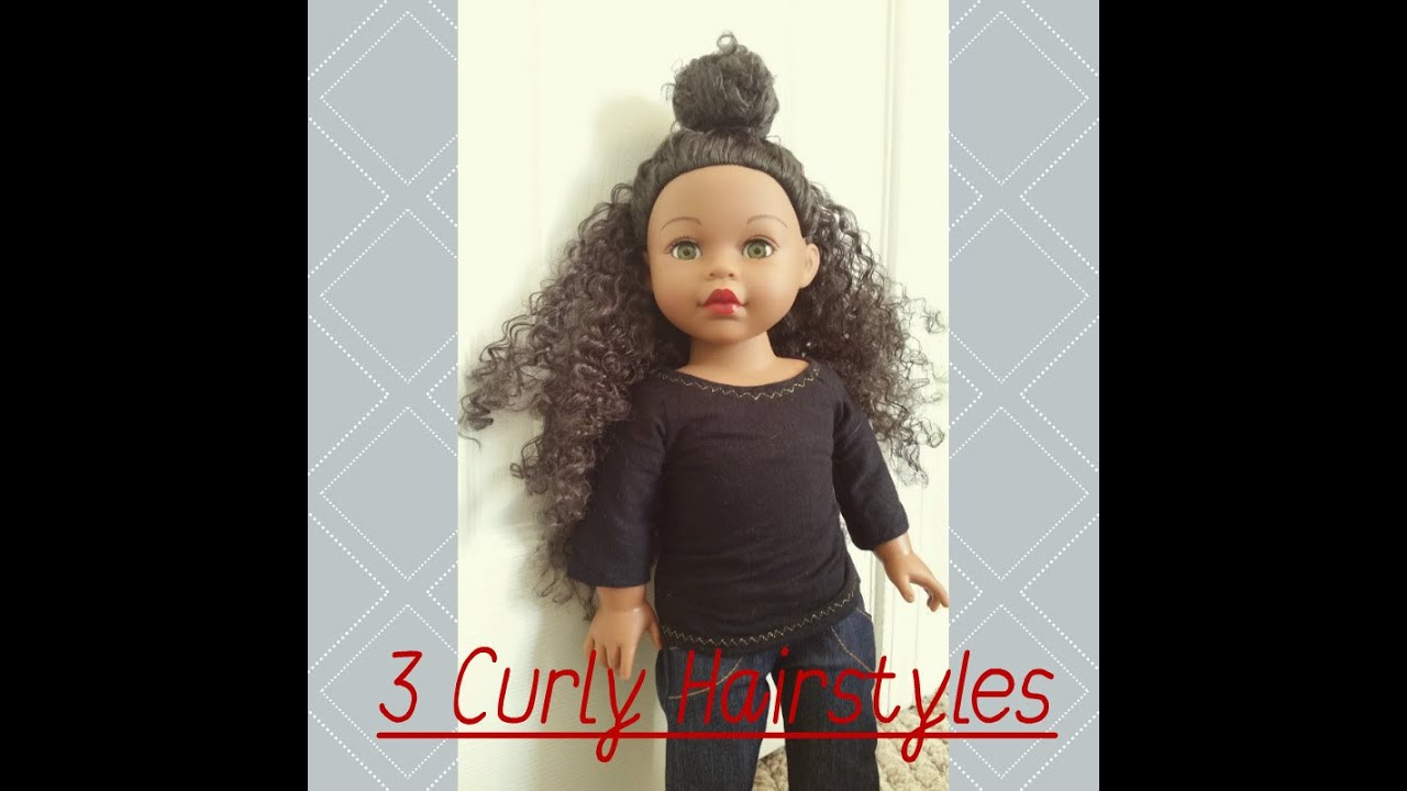 3 super easy & cute hairstyles for curly haired dolls
