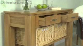 Galway Solid Oak Console Table With Storage From Oak Furniture Land