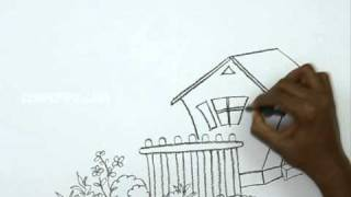 How to Draw a Cartoon Sweet Home