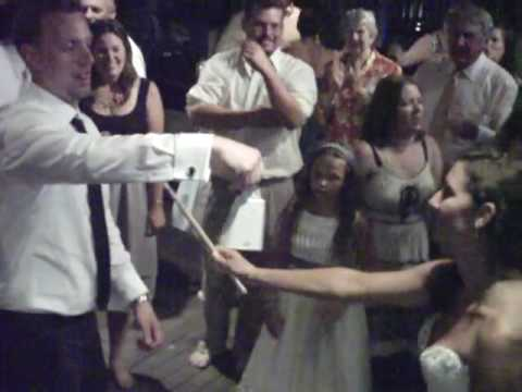 Christine and Jordan wedding Jordan nails cowbell.AVI