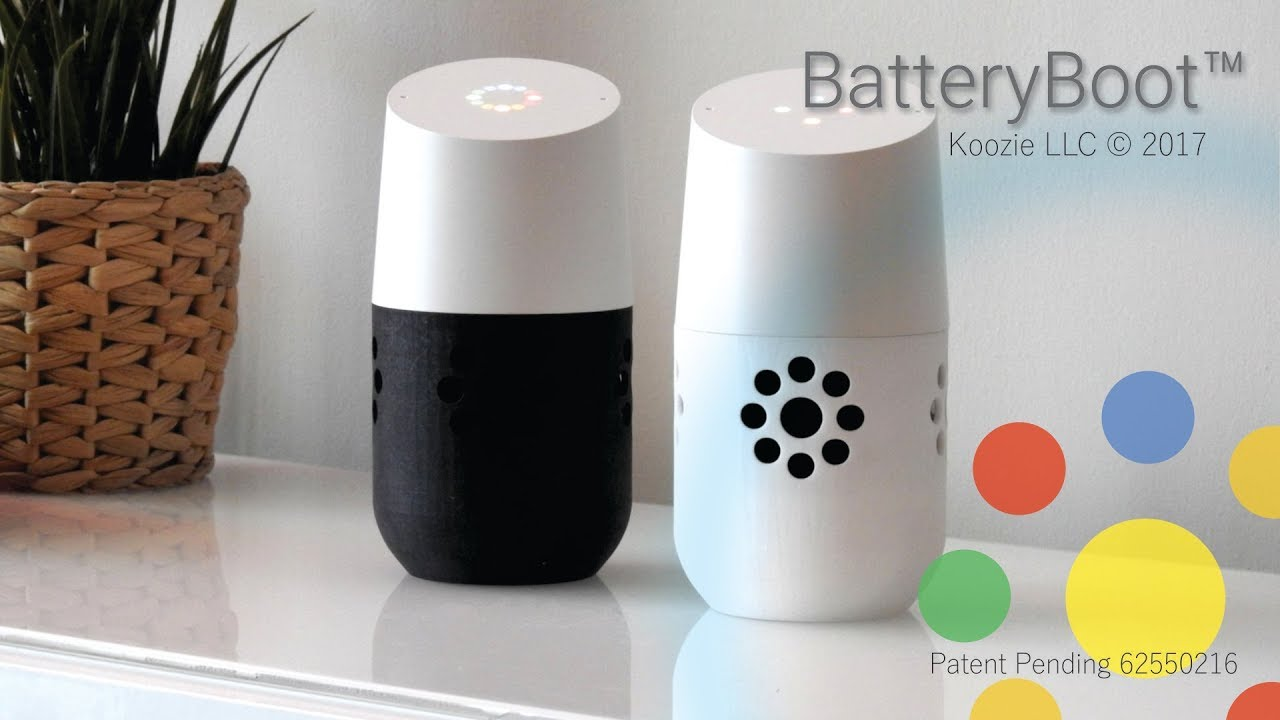 Introducing The All NEW BatteryBoot™ For Google Home Voice Activated Speaker